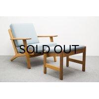 Hans.J.Wegner GE290 Easy Chair Oak & Footstool