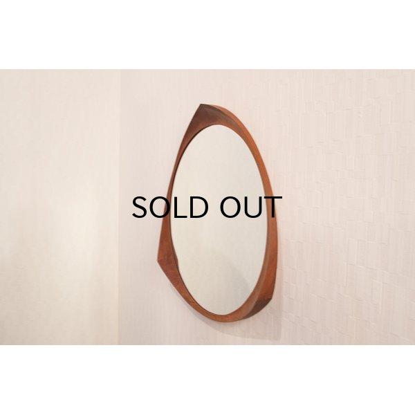 画像1: Teak Round Mirror
