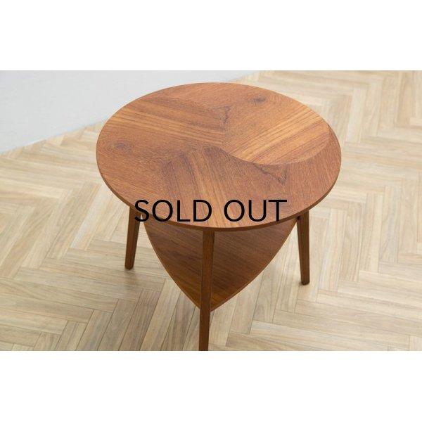 画像1: Teak Round Side Table