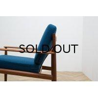 Grete Jalk Easy Chair Model 118 Blue 1