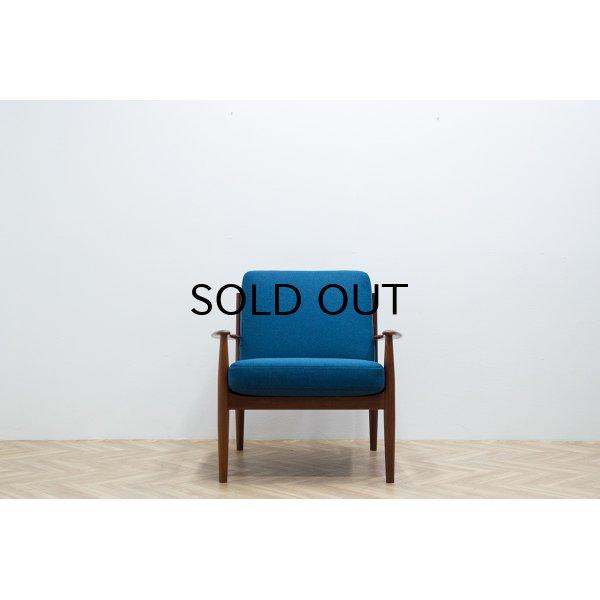 画像2: Grete Jalk Easy Chair Model 118 Blue 2