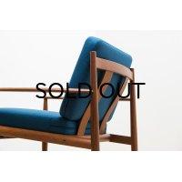 Grete Jalk Easy Chair Model 118 Blue 2