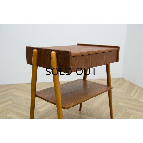画像1: Side table with drawer