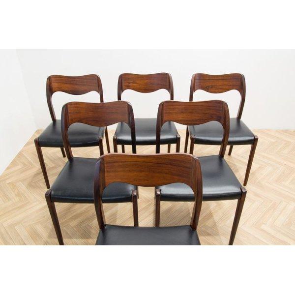 画像2: Niels.O.Moller No.71 Rosewood Dining Chair 6脚セット販売
