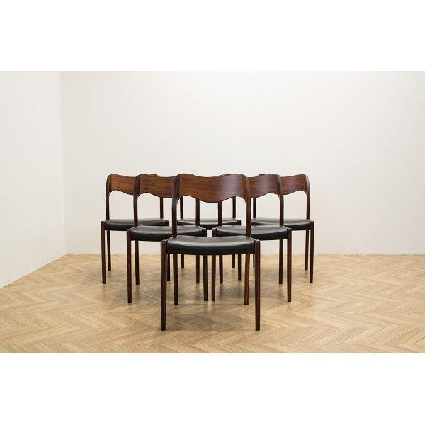 画像1: Niels.O.Moller No.71 Rosewood Dining Chair 6脚セット販売